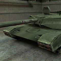 Machine Gun mounted on a Abrams tank at Lamada Complex.
