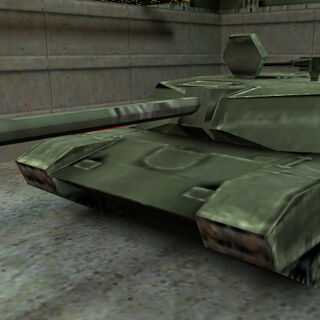 An Abrams used by Freeman to destroy Alien Grunts in Sector F.