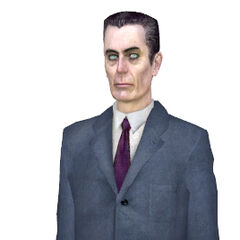<i>Half-Life 2</i> model, with brighter eyes and purple tie.