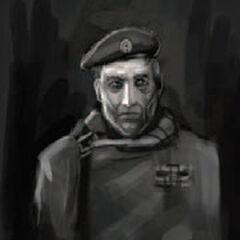 Concept art for Captain Vance.