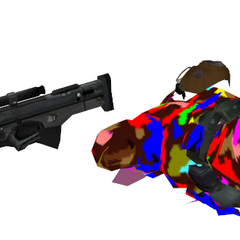 Ditto, Dead corpse of the sniper elite with him still holding onto the sniper rifle.