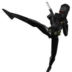 The female Black Op kicking.