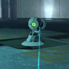 GLaDOS' Rocket Sentry, idle.