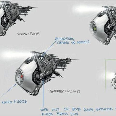 Several concepts for the Combot, including a different design.