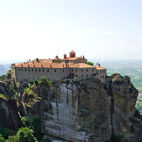 Agios Stefanos Monastery in Meteora, Greece.