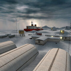 An early version of the <i>Borealis</i> stranded in the ice in