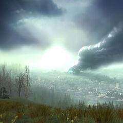 The destroyed Citadel in the second <i>Episode Two</i> teaser.