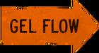 Gel flow orange
