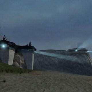 Coastline bunkers.