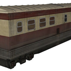 Train car seen at the end of <i>Episode One</i>. Note Blomberg