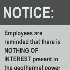 Notice for the cut Geothermal Power Plant 3: