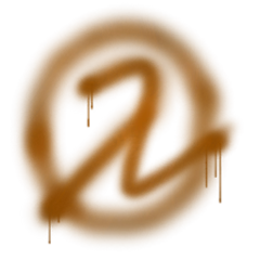 The logo as spray painted on a wall in Black Mesa East.