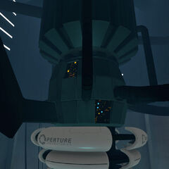The barrel-like part of GLaDOS' generator.