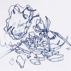Antlion going through a collapsed Nova Prospekt wall.