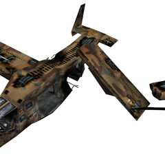 Crashed Osprey model.