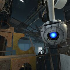 A close-up of Wheatley.