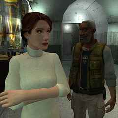 Mossman being annoyed by Alyx at Black Mesa East.