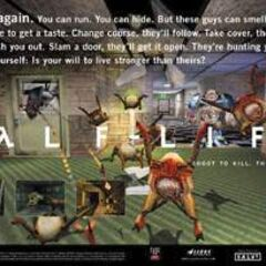 Another ad of <i>Half-Life</i>.