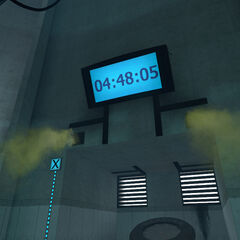 The neurotoxins flooding GLaDOS' Chamber while the countdown draws to a close.