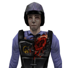 Security guard model with unused wound textures found in the <i>Half-Life</i> SDK.