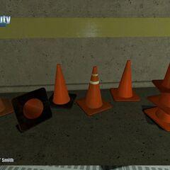 Safety Cones Model.