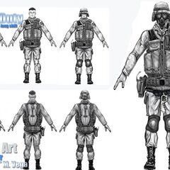 HECU Concept Art of the Project.