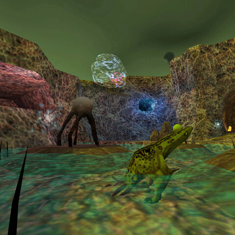 The same drinking Bullsquids than in <i>Half-Life</i>, in <i>Opposing Force</i>. This area is also where starts the bonus chapter for <i>Decay</i>, <i><a href=