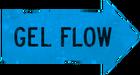 Gel flow blue