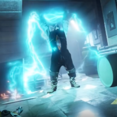 A reanimated corpse being controlled by a lighting dog, as seen in the trailer.