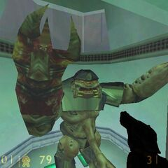 Alien Grunt trapped.