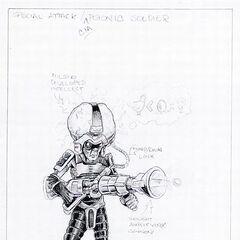 Concept art for the CIA Brainboy.