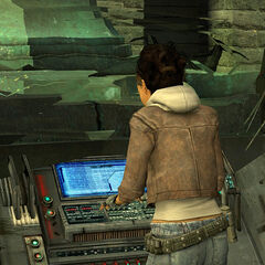Alyx operating Combine computers to give Gordon access to the generator in <i>Anticitizen One</i>.