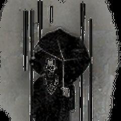 Man with umbrella.