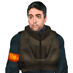 Early <i>Half-Life 2</i> model, with the early Metrocop skin.