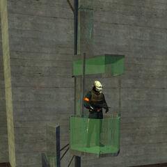 Metrocop in an early Combine Watchtower.