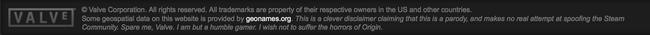 Fake Steam Disclaimer