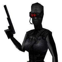 The female Black Op, <i>Opposing Force</i> model.