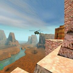The Apache in an early <i>Half-Life</i> screenshot.