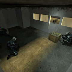 Two CPs taking cover in the guard tower