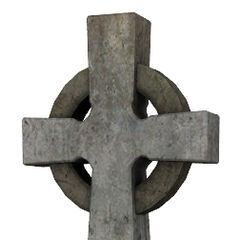 Gravestone cross model.