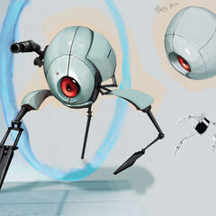 The Walking Turret Concept Art.