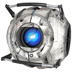 Wheatley's model damaged by GLaDOS.