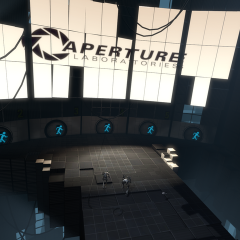 An earlier version of the Hub, as seen in the PAX 2010 Co-op trailer.