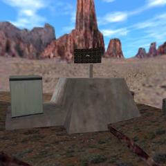 A satellite next to an electrical box.