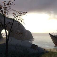 Old stranded ship.