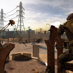 Another screenshot from the Urban Chaos Chapter. Where the resistance preparing to fend off against the Combine assault.