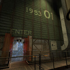 The entrance to Test Chamber 01.