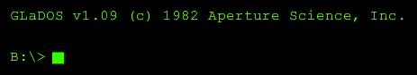 Aperture website glados prompt