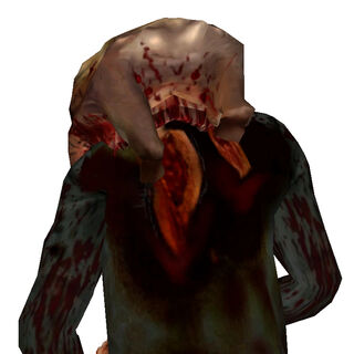 The backside of the Bloody Headrab Zombie.