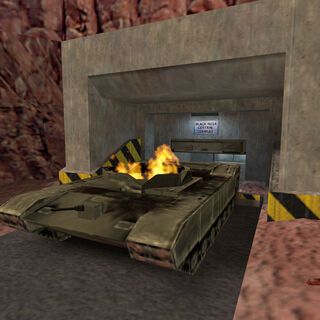 A destroyed Abrams in Sector F in <i>